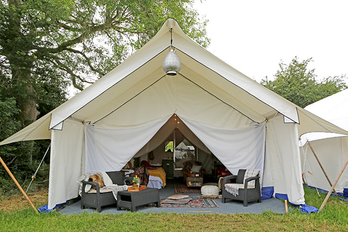 Luxury venue Glamping hire accommodation