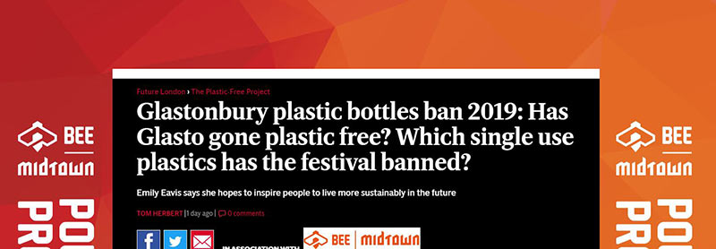 Plastic Free Glastonbury festival