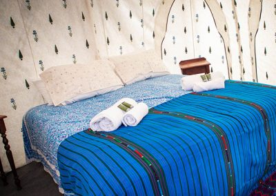 luxury camping double bed