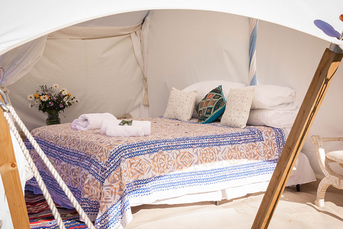 Glastonbury glamping